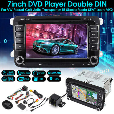 "7"" Car Stereo Radio DVD Sat Nav GPS Bluetooth For VW Golf MK5 MK6 Jetta Passat"
