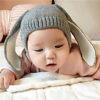 Cute Rabbit Ears Baby Boy Girl Warm Beanie Infant Toddler Kids Knit Hat Cap