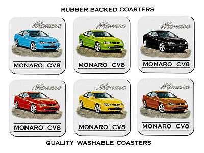 Holden   Monaro  Cv8      Set Of 6  Quality Rubber Drink  Coasters