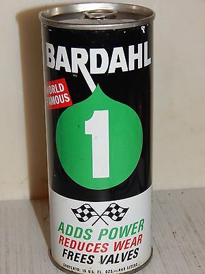 Vintage BARDAHL #1 POWER CONCENTRATE 15 oz. Oil Can, empty, NICE!