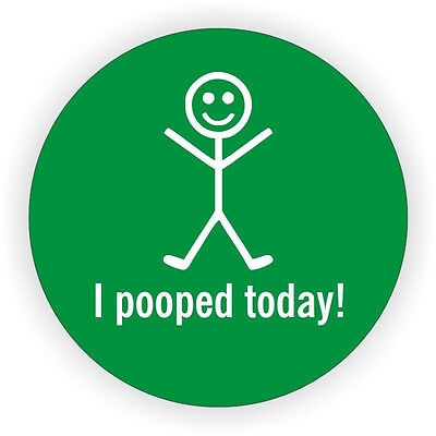 3pc I Pooped Today Hard Hat Decal / Helmet Sticker Funny Label 50MM