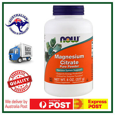 Magnesium Citrate Pure Powder 8oz (227g) by NOW Foods - Nervous System Support