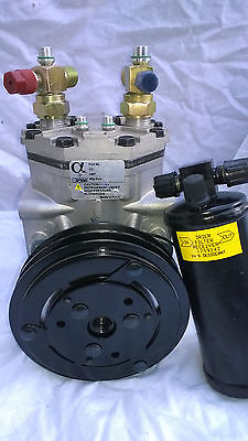 York R210 Style Compressor With Clutch And Filter Incl Fittings Seals Etc