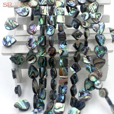 Jewelry Making Natural Abalone Shell Assorted Shape Gemstone Beads Strand 15""