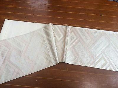 Lovely Ivory & Pale Pink Patterned Vintage Japanese Obi (Sash)