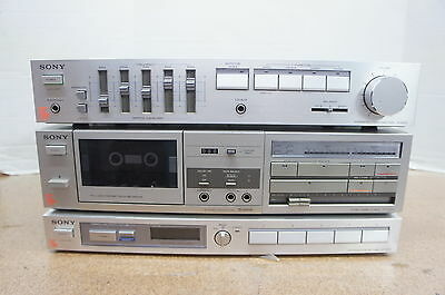 Sony Integrated Amplifier Tape Deck Stereo Tuner Combo TA-AX35 TC-FX25 ST-JX35