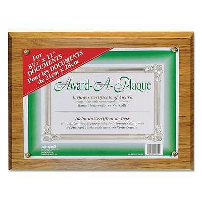 NuDell Award-A-Plaque Document Holder, Acrylic/Plastic, 10-1/2 x 042122188129