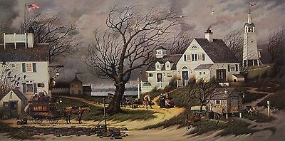 """Charles Wysocki  Checking In On... signed and numbered  image size 16.5"""" x 33"""""""