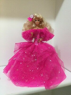 Vintage 1976 Barbie Doll Blonde w/Pink Long Dress Mattel