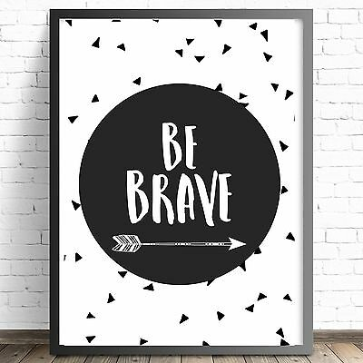Tribal Nursery Print | Boys Bedroom Wall Art Decor Prints | A4 A3 | Be Brave