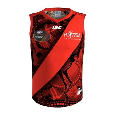 New 2017 Essendon Bombers AFL Footy ISC Mens Indigenous Jumper Guernsey Jersey