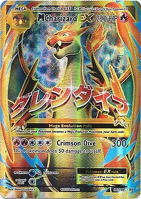 Pokemon XY Evolutions M Charizard EX Full Art Ultra Rare Card 101/108 MINT