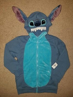 NWT Authentic Disney Parks Stitch Youth Boy Girl Hoodie Jacket Size Medium
