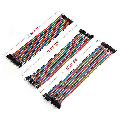 3set 20cm 2.54mm Male to Female Dupont Wire Jumper for Arduino Breadboard