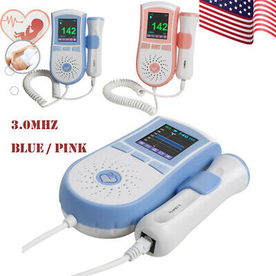 USA FDA Fetal Doppler + 3MHz Probe,Baby Heart Monitor, Backlight LCD,Free GeL
