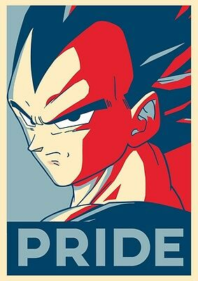 Poster Dragon Ball Z Vegeta Pride Dragonball Goku Super Saiyan Manga Anime #1