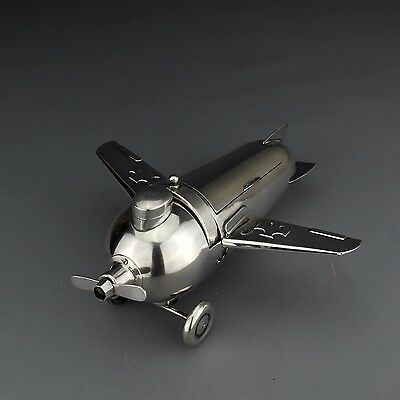 Antique Solid Sterling Silver Airplane Smoker's Companion, J.A. Henckels Germany