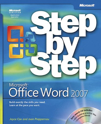 Microsoft® Office Word 2007 Step by Step (Step by Step (Microsoft)), Good Condit