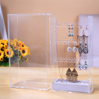Multi-Layers Dust Proof Jewelry Storage Box Necklace Rings Storage Ring Case