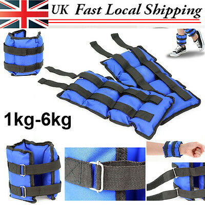 Wrist Ankle Weights Exercise Fitness Gym Resistance Stength Training Running UK