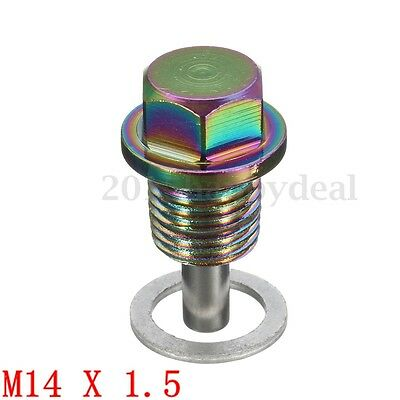 MAGNETIC OIL M14x1.5  DRAIN SUMP PLUG  FILTER ENGINE ADSORB BOLT CRUSH WASHER UK