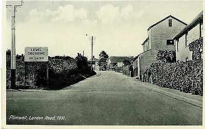 FLIMWELL,LONDON ROAD,SUSSEX-REAL PHOTO-POSTCARD,UNPOSTED.-k-s