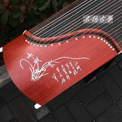 "New 64"" Travel 21-String Rosewood Guzheng, Chinese Zither Harp Instrument, Koto"