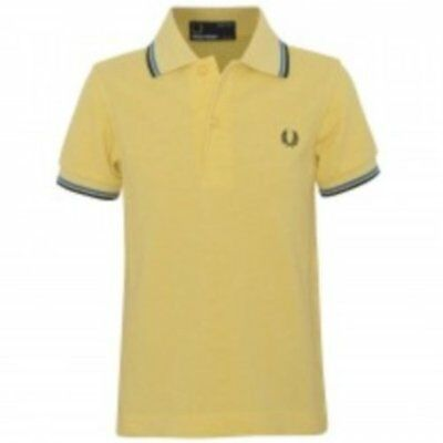 Fred Perry boys yellow polo top age 7-8 years
