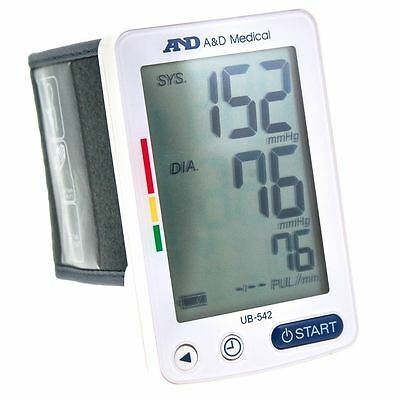 A&D XL EasyView Wrist Digital Heart Blood Pressure Monitor Large Read Display UK