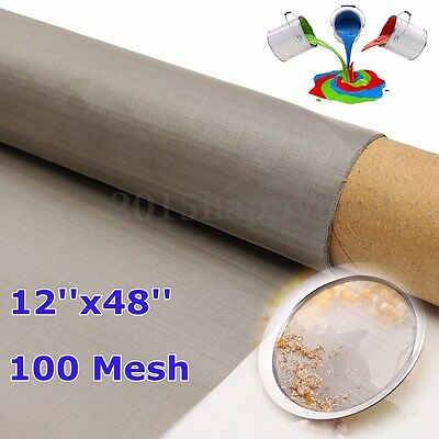 30x120cm 150 Micron Stainless Steel 100 Mesh Filter Filtration Wire Cloth Screen