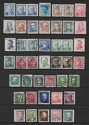 CZECHOSLOVAKIA - mixed collection No.23, famous people
