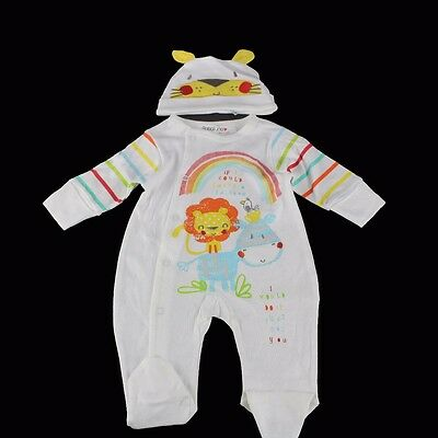 BNWT BABALUNO Baby Unisex 2 Pc Sleepsuit Babygrow and Hat Set 0-3-6-9-12 m