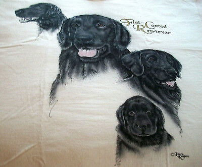 "Flat-Coated Retriever T-shirt  "" White "" 2XL ( 50 ~ 52 )"