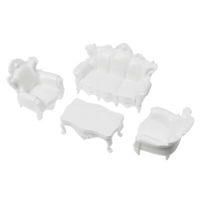 1:50 Scale Scene Model Crafts Toy Living room Decor Sand Table Mold White