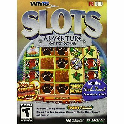WMS Slots Adventure: War For Olympus Software Brand New