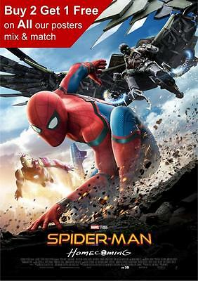 Spiderman Homecoming Poster A5 A4 A3 A2 A1