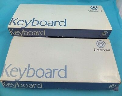 Genuine / Official SEGA Dreamcast Keyboard - 2 Fully Working Keyboards BOXED PAL