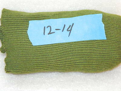 VINTAGE USED KNEE HIGH GREEN KHAKI MEN'S SOCKS BOY SCOUTS of AMERICA SIZE 12-14