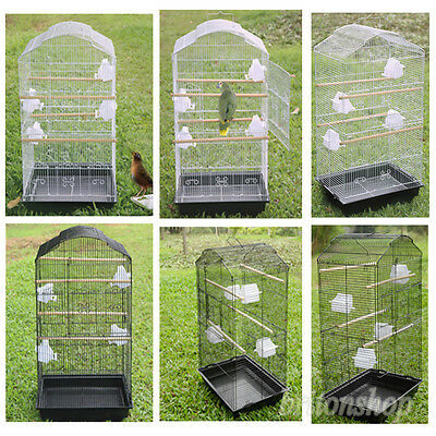 XL Large Metal Bird Cage Budgie Canary Macaw Parrot Canary Cockatiel Detachable