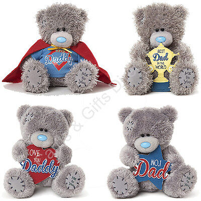 "Me to You 7"" 4"" Daddy Dad Super No. 1 Tatty Teddy Plush Bear"