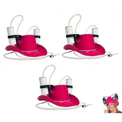 3 PACK Drinking Holder Soda Hen Night Helmet Beer Party Hat Game Stag Do Thirst