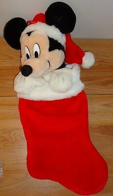 """Singing MICKEY MOUSE Christmas Stocking 20""""L"""