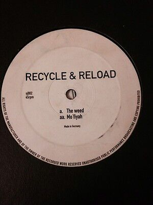 """Recycle & Reload - The Weed/ Mo Fiyah 12"""" Jungle Warriors Records Drum and Bass"""
