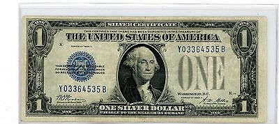 1928 A $1 Silver Certificate, Funny Back Note, Blue Seal #535B