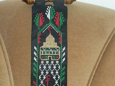 Palestinian embroidery,Cross stitch,Dome of the Rock,Palestine,flag, Wallhanging