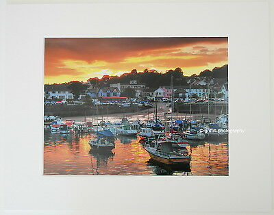 """Saundersfoot """"Harbour Sunset""""  Limited Edition Mounted  Photo Print 14x11 8x6"""