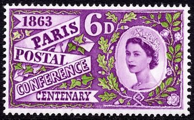 GB MNH STAMP 1963 Paris Postal Conference (ordinary) SG 636 10% OFF FOR ANY 5+