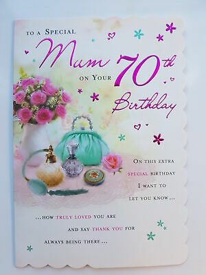 To A Special Mum On Your 70th Birthday Card 299 Picclick Uk