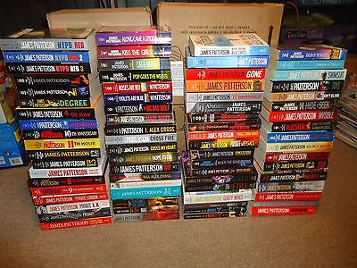 Lot 76 James Patterson PB Novels Alex Cross Women's Maximum Ride NYPD Red Daniel