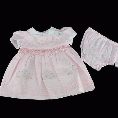 CHLOE LOUISE Baby Girls Hand Embroidered Summer Dress 0-3-6-9-12 m